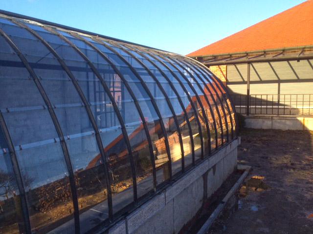 terras overkapping met boogserre aanbouw DBG Classics