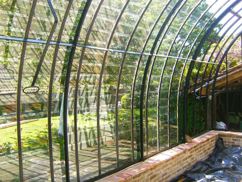 glazen serre aanbouw boogvormig binnenkant DBG Classics