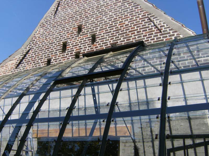 glazen serre aanbouw dak verluchting DBG Classics