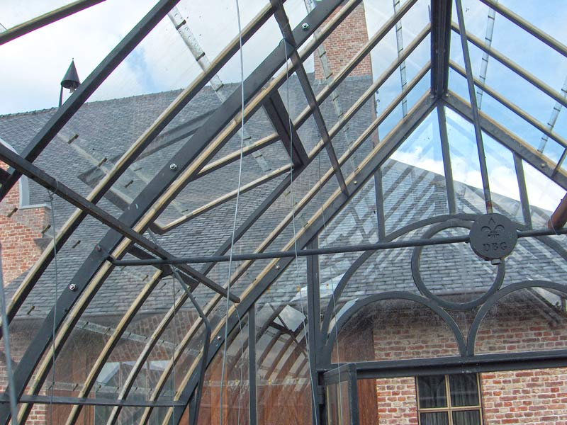 landelijke serre binnenkant dakconstructie DBG Classics
