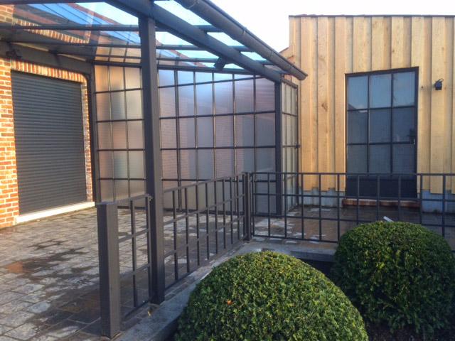terras overkapping aanbouw met serre DBG Classics