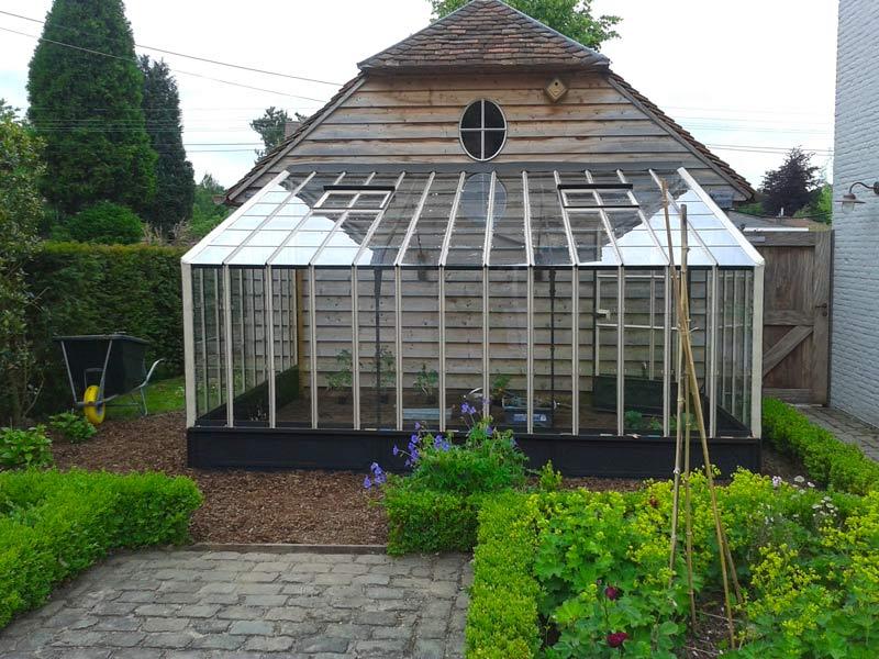 serre de jardin murale toit droit fer forgé DBG Classics