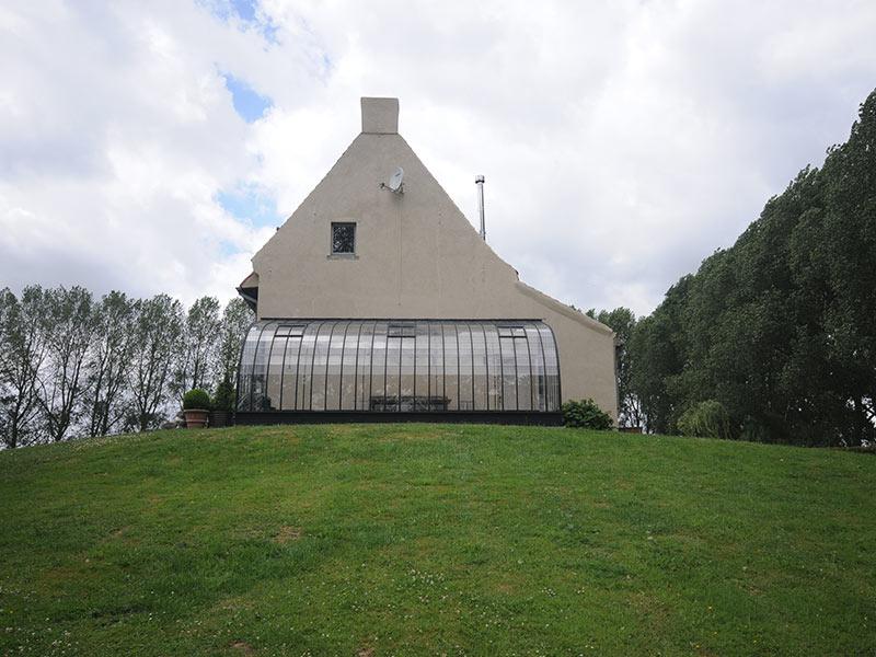 gebogen dak van zelfbouwserre dbg classics