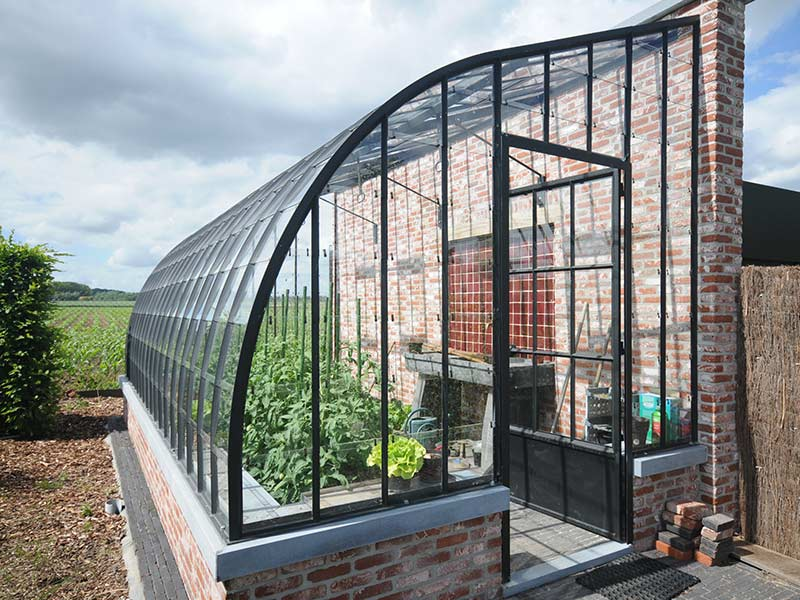 Astonishing Greenhouse For Garden Elegant Model With Arched Wrought Home Remodeling Inspirations Genioncuboardxyz