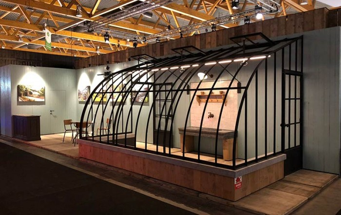 lean to greenhouse stand dbg classics batibouw 2018 in Brussels Expo fair