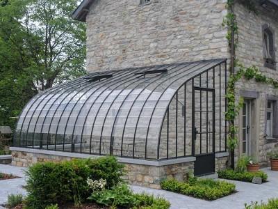 landelijke veranda gebouwd op halfhoog muurtje dbg classics