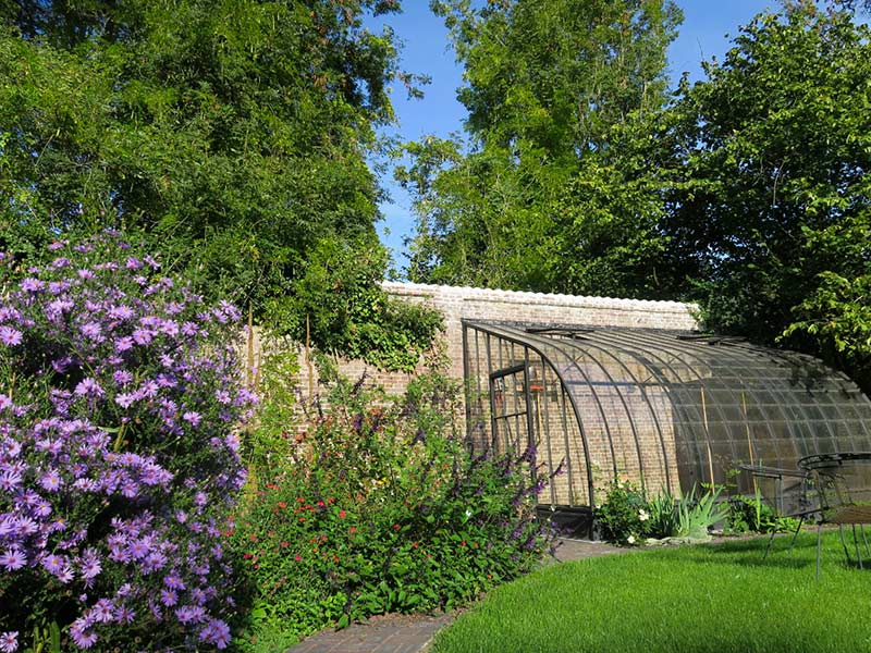 galvanised steel base conservatory arched model against wall dbg classics