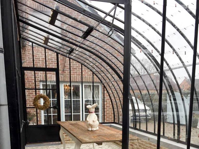 smeedijzeren dakspanten gebogen model orangerie veranda DBG Classics