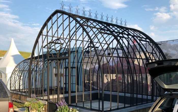 smeedijzeren serre te koop libramont beurs landbouw 2019 showroom in openlucht dbg classics