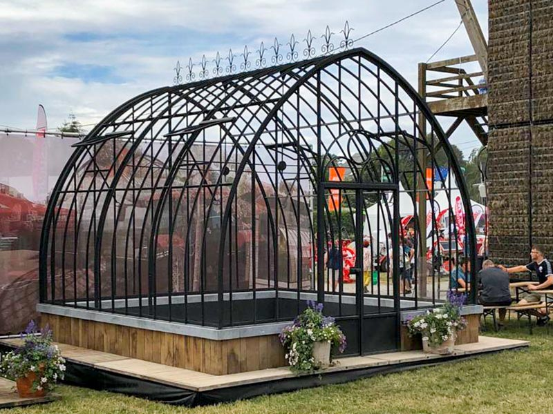 wrought iron greenhouse for sale freestanding on dwarf wall libramont fair 2019