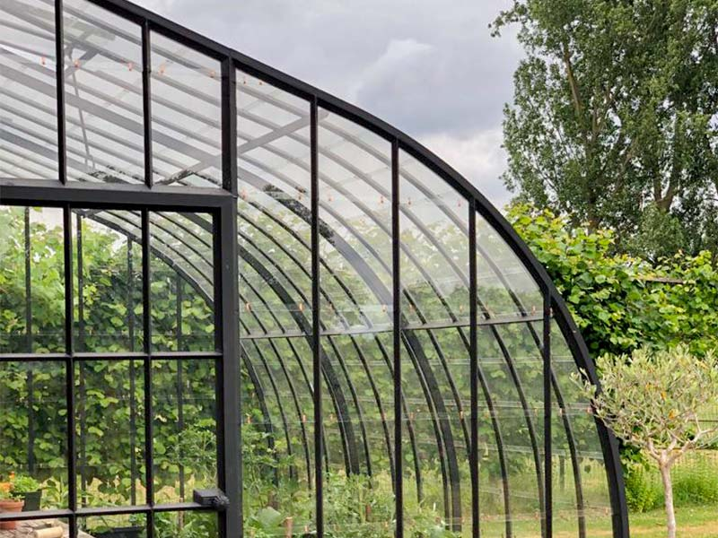 streamlined rounded roof of wrought iron lean to greenhouse dbg classics