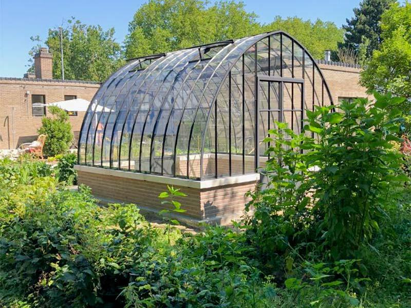 vrijstaande serre tuinkamer op laag muurtje traditionele stijl ook zelfbouw mogelijk dbg classics