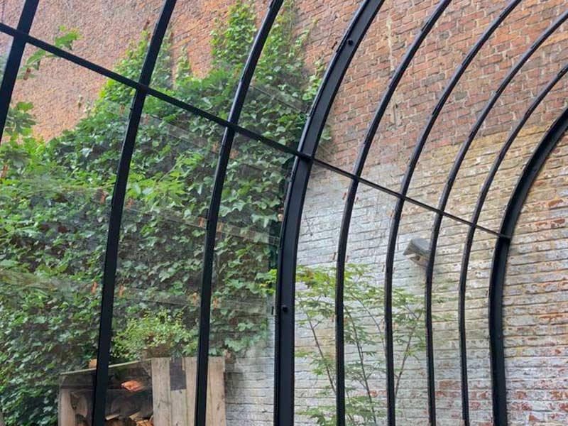 gebogen dakprofielen van glazen serre aanbouwmodel dbg classics